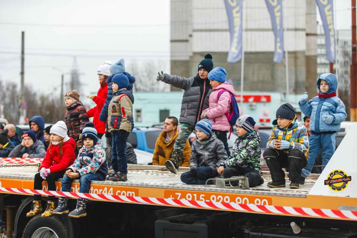 Дети на соревнованиях Susanin Race 2018.