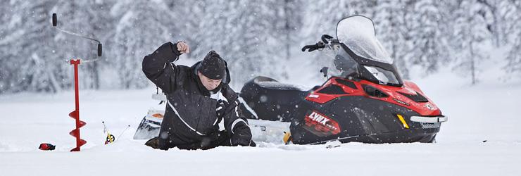 4-х тактный утилитарный снегоход для охоты и рыбалки от BRP Lynx 59 Yeti