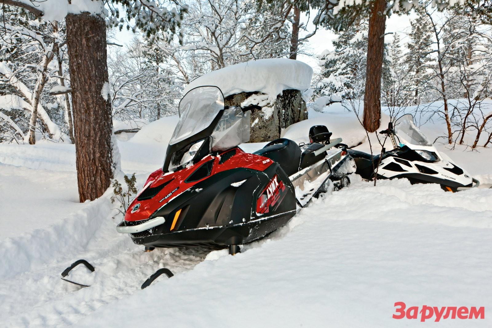 Снегоход BRP Lynx 59 Yeti для охоты и рыбалки